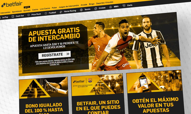 Betfair España apuestas deportivas y casino en vivo