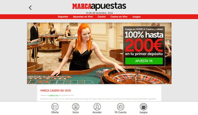 ¿Cómo funciona el casino en vivo de Marca Apuestas?