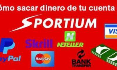 ¿Cómo retirar dinero de Sportium?